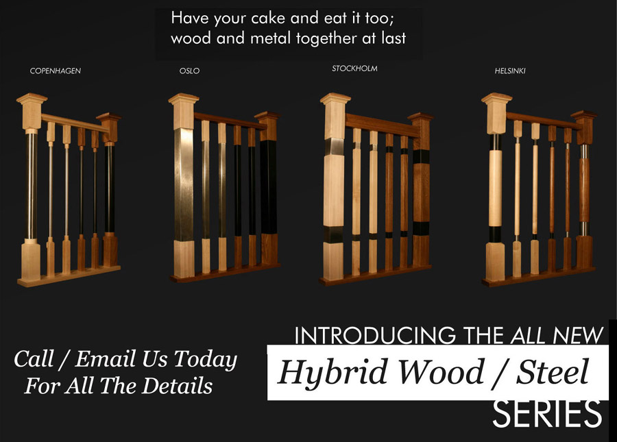 Hybrid Wood Steel Newels Balusters Profiles
